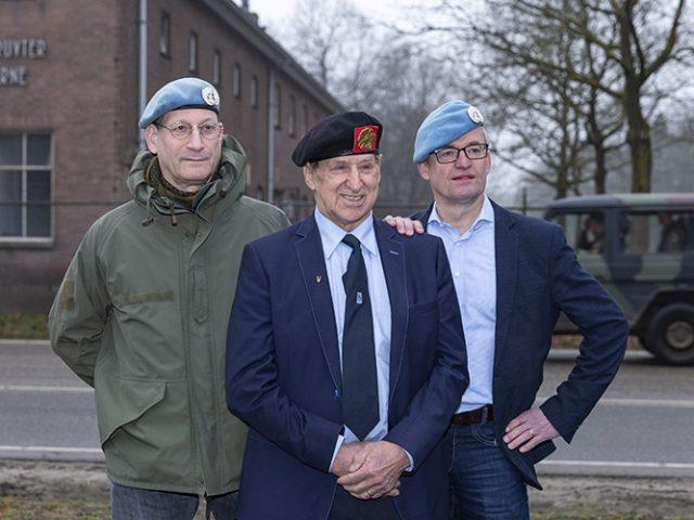 Groepsportret Veteranen op locatie