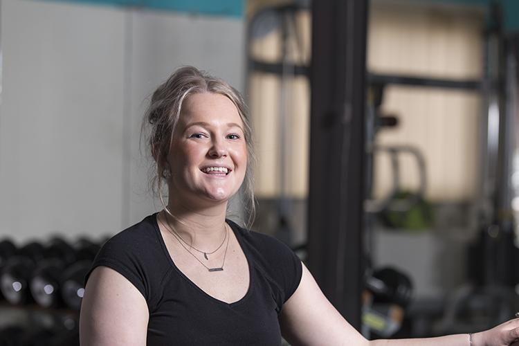 Portret vrouw sportschool