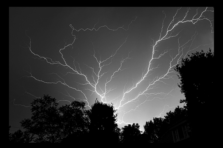 Bliksem flits onweer